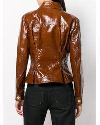 Куртка На Пуговицах С Декоративной Булавкой Versace, цвет: Brown