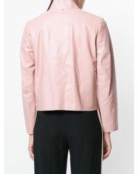 Sportmax Pink Asymmetric Front Jacket