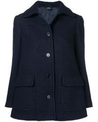 Aspesi Blue Short Single Breasted Coat