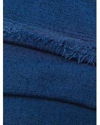 Fine knit scarf Faliero Sarti pour homme en coloris Blue