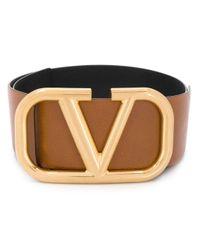 Cinturón VLOGO Garavani Valentino de color Brown