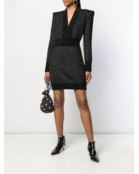 Robe courte à design tissé Balmain en coloris Black