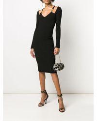 Versace メデューサ リブドレス Black