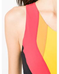 Top sportivo color-block di No Ka 'oi in Multicolor