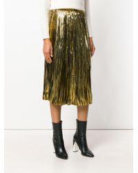 Mes Demoiselles - Metallic Lurex Pleat Skirt - Lyst