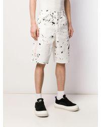 メンズ OAMC Splatter バミューダ パンツ White