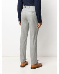 Pantalones rectos Brunello Cucinelli de hombre de color Gray