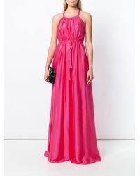 Lanvin フレア ロングドレス Pink