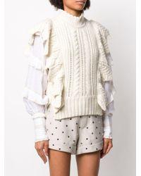 Zadig & Voltaire Fashion Show Lila ラッフルトリム トップ White