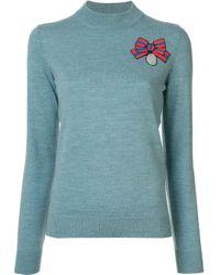Markus Lupfer スパンコール セーター Blue