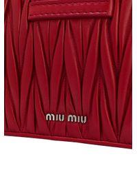 Miu Miu - Red Lady Matelassé Bag - Lyst