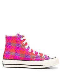 Converse Gewebte High-Top-Sneakers in Pink für Herren
