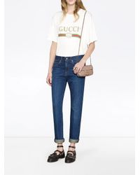 Gucci GG Marmont Matelass� Leren Super Mini Tas in het Pink