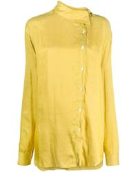 Camicia con chiusura decentrata di Ann Demeulemeester in Yellow
