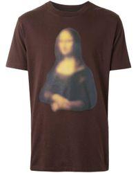 T-shirt Mona Lisa con stampa di Off-White c/o Virgil Abloh in Multicolor da Uomo