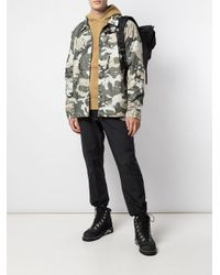 The North Face Green Camouflage Print Jacket for men