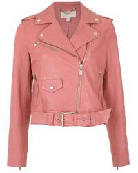 Giacca con zip decentrata di MICHAEL Michael Kors in Pink