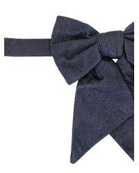 メンズ Dolce & Gabbana ジャカード 蝶ネクタイ Blue