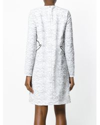 Victoria, Victoria Beckham White Swan Embroidered Dress