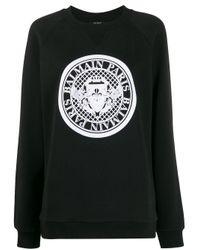 Balmain クルーネック スウェットシャツ Black