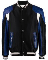 Alexander McQueen Black Panelled Bomber Jacket for men