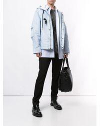 Куртка С Капюшоном И Пряжкой Calvin Klein для него, цвет: Blue