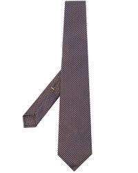 Cravate à pois Canali pour homme en coloris Brown