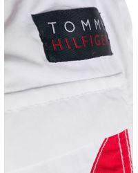 メンズ Tommy Hilfiger ロゴ トランクス水着 White