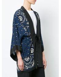 RED Valentino Blue Floral Kimono Jacket