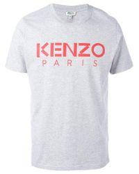 KENZO Gray Paris T-shirt for men