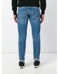 Pence Blue Stonewashed Slim-fit Jeans for men