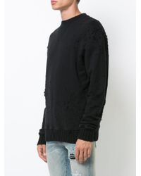 Amiri - Black Shotgun Crew Neck Sweater for Men - Lyst