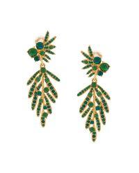 Oscar de la Renta - Metallic Tropical Palm Earrings - Lyst