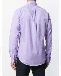 Camicia con logo ricamato di Ralph Lauren in Purple da Uomo