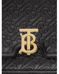 Burberry Tb モノグラム レザーバッグ Black