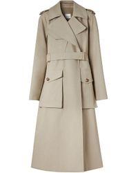 Burberry Tielocken ベルテッド コート Gray