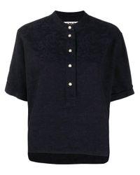 Camisa con motivo floral en jacquard YMC de color Black