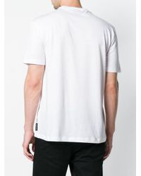 Emporio Armani White Printed Logo T-shirt for men