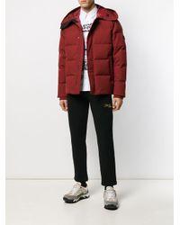 Chaqueta acolchada con capucha y parche del logo KENZO de hombre de color Red