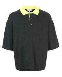 Opening Ceremony Gray Colour-block Polo Shirt