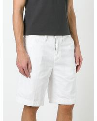 Polo Ralph Lauren - White Embroidered Logo Chino Shorts for Men - Lyst