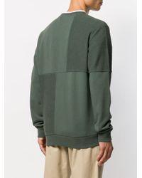 メンズ A.P.C. パッチワーク スウェットシャツ Green