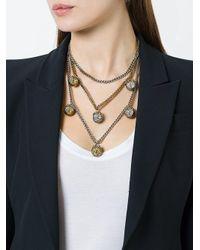 Alexander McQueen - Metallic Triple Chain Necklace - Lyst