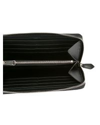 Givenchy Black Iconic Print Zip Wallet