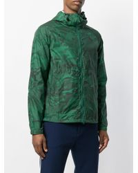 Aspesi Green Camouflage Hooded Jackets for men