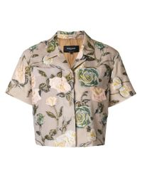 Rochas - Multicolor Rose Embroidered Shirt - Lyst