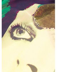 Undercover ペイントスカーフ Multicolor
