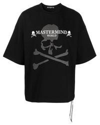 メンズ MASTERMIND WORLD スカル Tシャツ Black