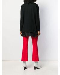 P.A.R.O.S.H. フェザートリム セーター Multicolor