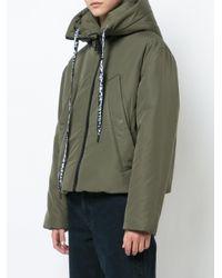 Proenza Schouler Green Hooded Short Coat